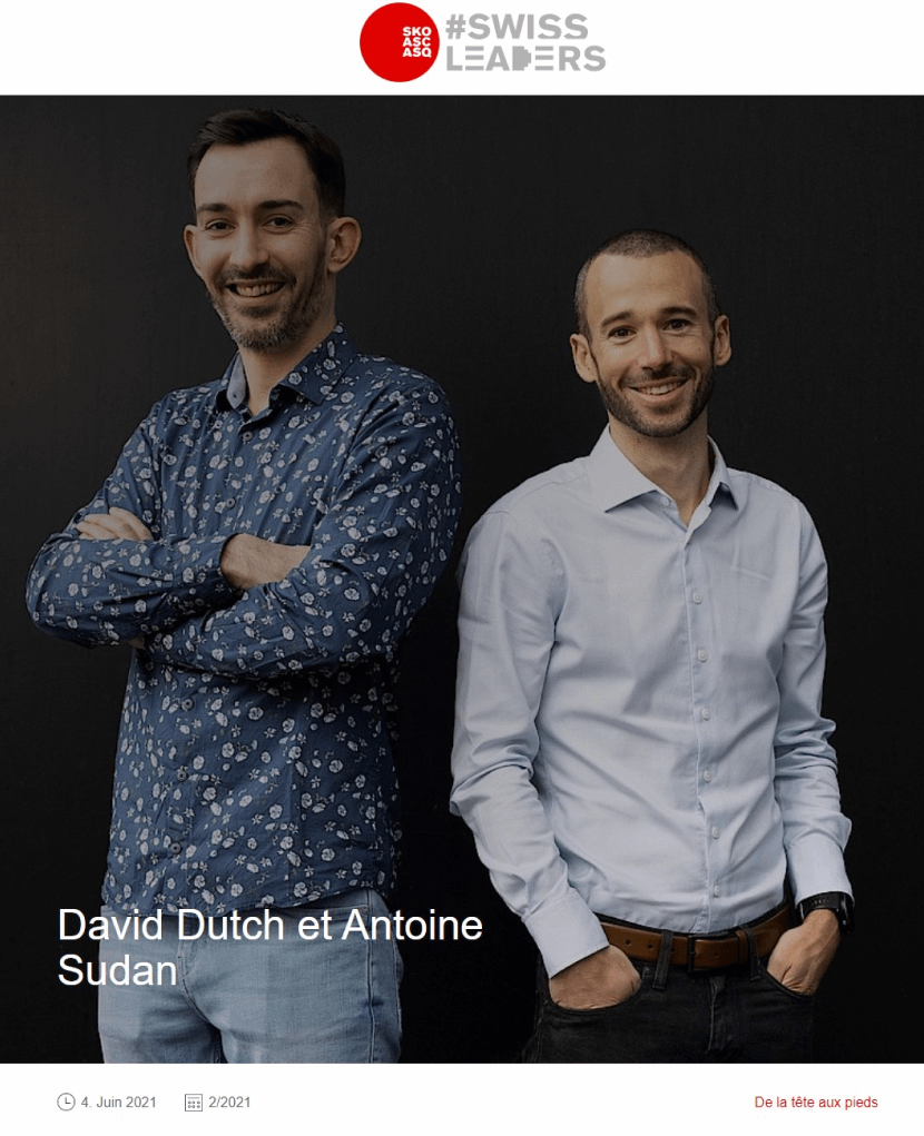 Antoine Sudan et David Dutch, cofondateurs de WEDO.